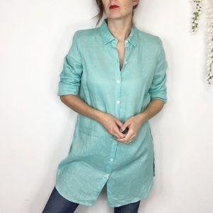 J. JILL LOVE LINEN 100% linen button down tunic